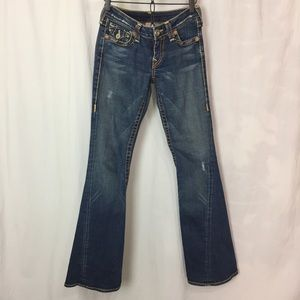 True Religion Low Rise Flare Jeans Size 27
